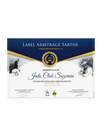 Club Label Arbitrage Sarthe Or