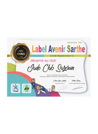 Club Label Devenir Sarthe Bronze