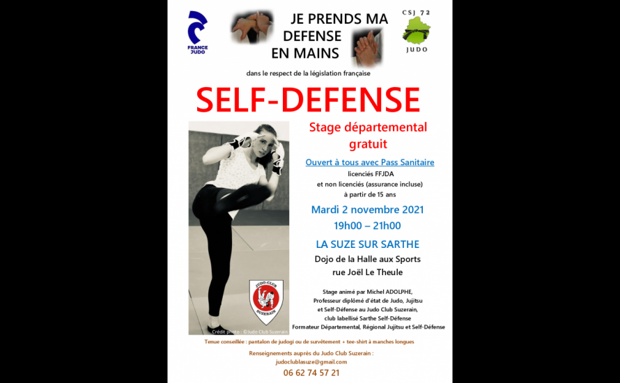 Stage Départemental de Self-Défense au Dojo de La Suze
